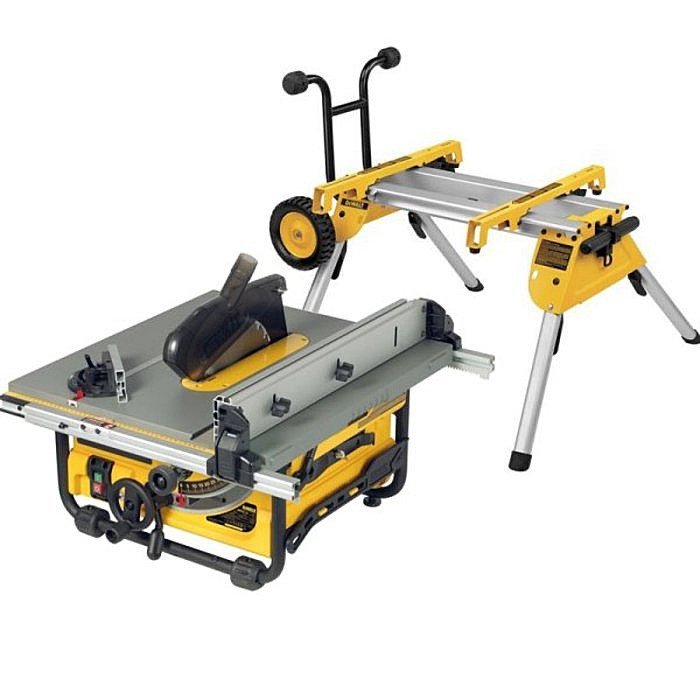 Dewalt Dw745 250mm Table Saw 110 Volt With Rolling Stand